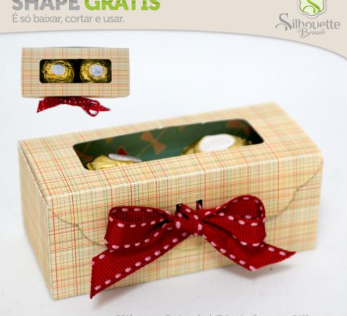 FREE» DIY 3D cut file --Shape 56: Caixa Ferrero Rocher – Duplo - Silhouette Brasil--two chocolate box party favour