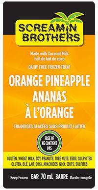Orange Pineapple Bar - Sweet and delicious! #DairyFree #GlutenFree #CoconutMilk #ScreaminBrothers