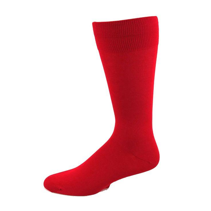 Absolute Socks - Men's Red Casual Dress Socks, $7.50 (http://www.absolutesocks.com/fashion-mens/solid-color-socks-mens/mens-red-casual-dress-socks/)