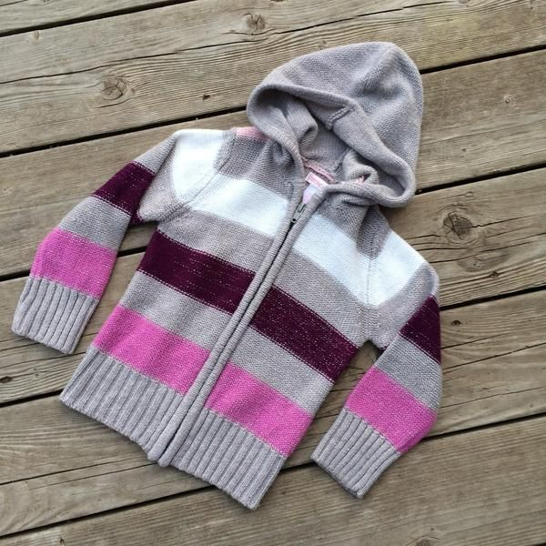 Full-Zip Hooded Sweater (Girls size 4)