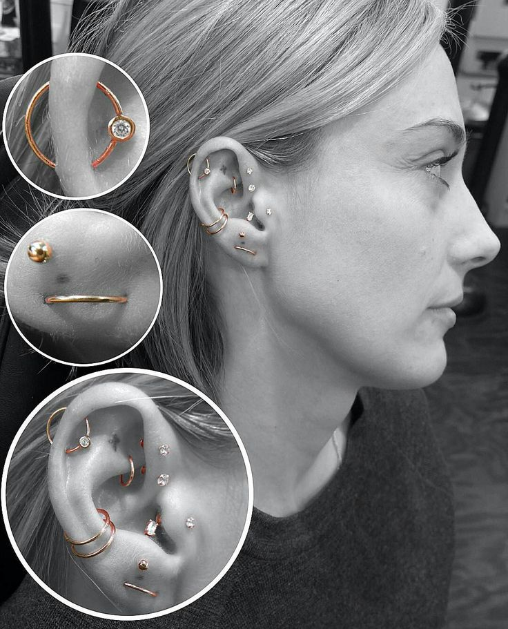 25 best ideas about orbital piercing on ear