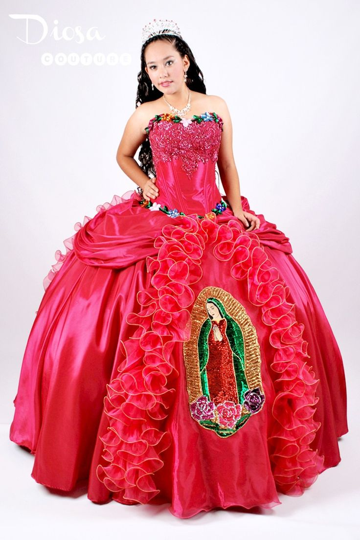 quinceanera moda virgen de guadalupe quince dress like it pinterest quinceanera and. Black Bedroom Furniture Sets. Home Design Ideas