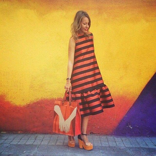 ❤️ Ксения Собчак @xenia_sobchak Платье & сумка #ALEXANDERARUTYUNOV #70летвеликойпобеды