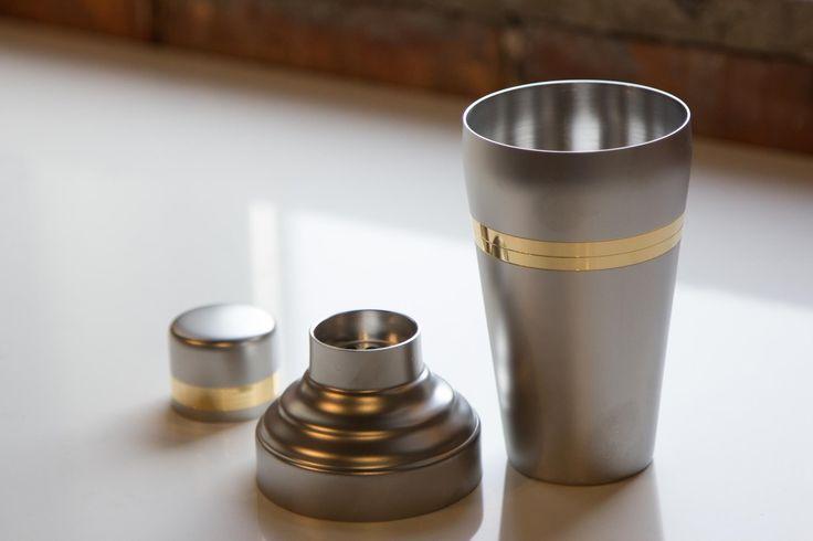 Yukiwa Baron Gold and Matt Steel Cocktail Shaker