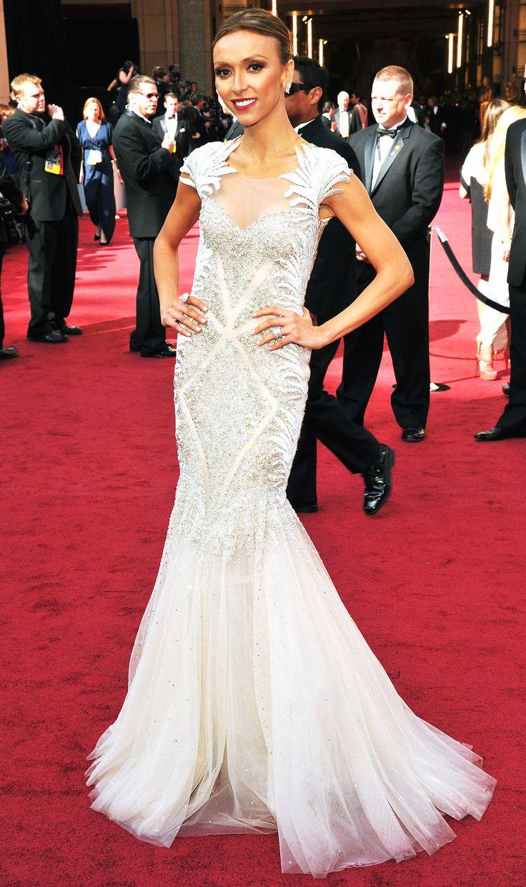 Giuliana rancic 2014 oscars paolo sebastian dress - 2012 Oscars What The Stars Wore Giuliana Rancicoscar Dressestony