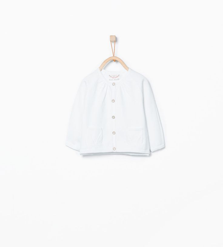 Image 1 of Basic buttoned cardigan from Zara