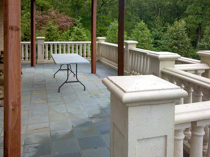 Cement Porch Railings : Best images about concrete railings balustrade system