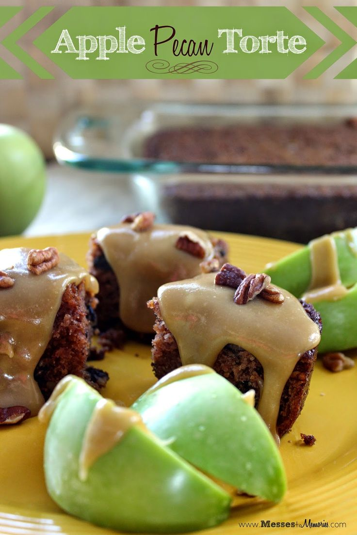 APPLE PECAN TORTE--My most favorite dessert of all time... drenched in ...