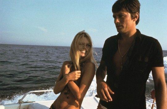 Alain Delon, avec Brigitte Bardot
