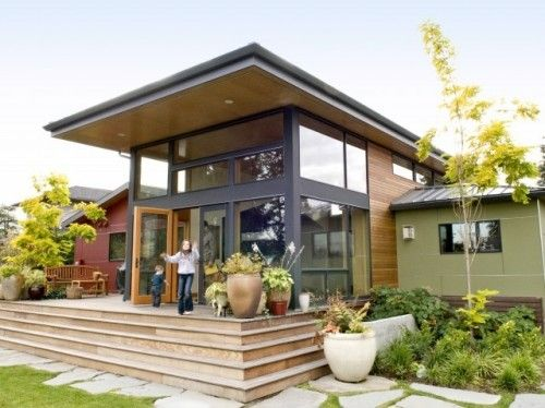 Modern roof overhang and windows!: Architects, Idea, House Design, Enclo Porches, Modern Exterior, Decks Design, Home Design, Modern Home, Flats Roof