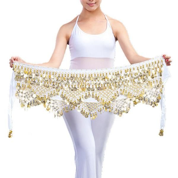 Dancewear Practice Clothing Triangle Hip Scarf Colorful Rhinestone Adjustable Fit 300 Gold Coins