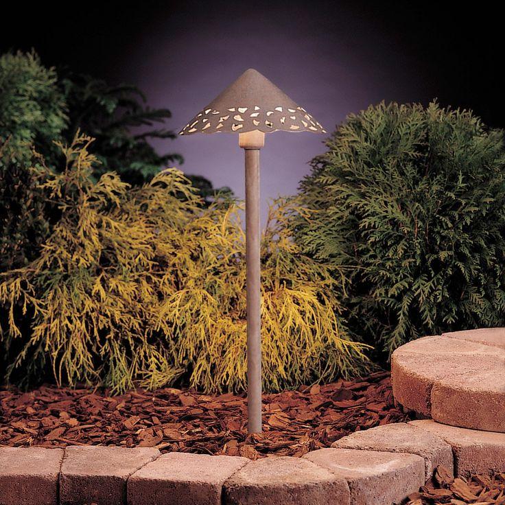 Kichler lighting 15443ob lace 12v 24 4 watt olde brick landscape 12v path spread in single