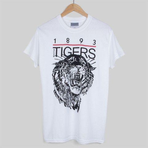 XCVB 1893 T Shirt White #Tiger #streetwear #fashion #graphic #design #1893 #xcvb