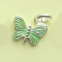Links of London Butterfly charm in green color #fashionjewelry
