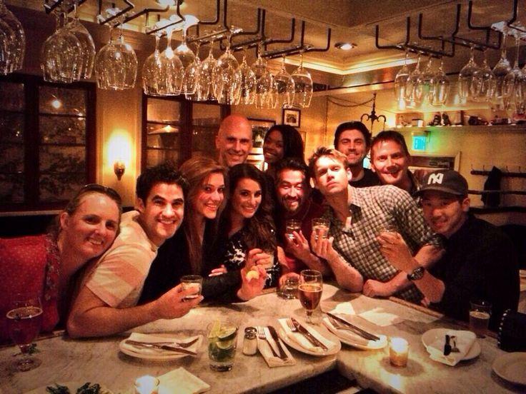 Glee cast & crew season 5 wrap party last Friday