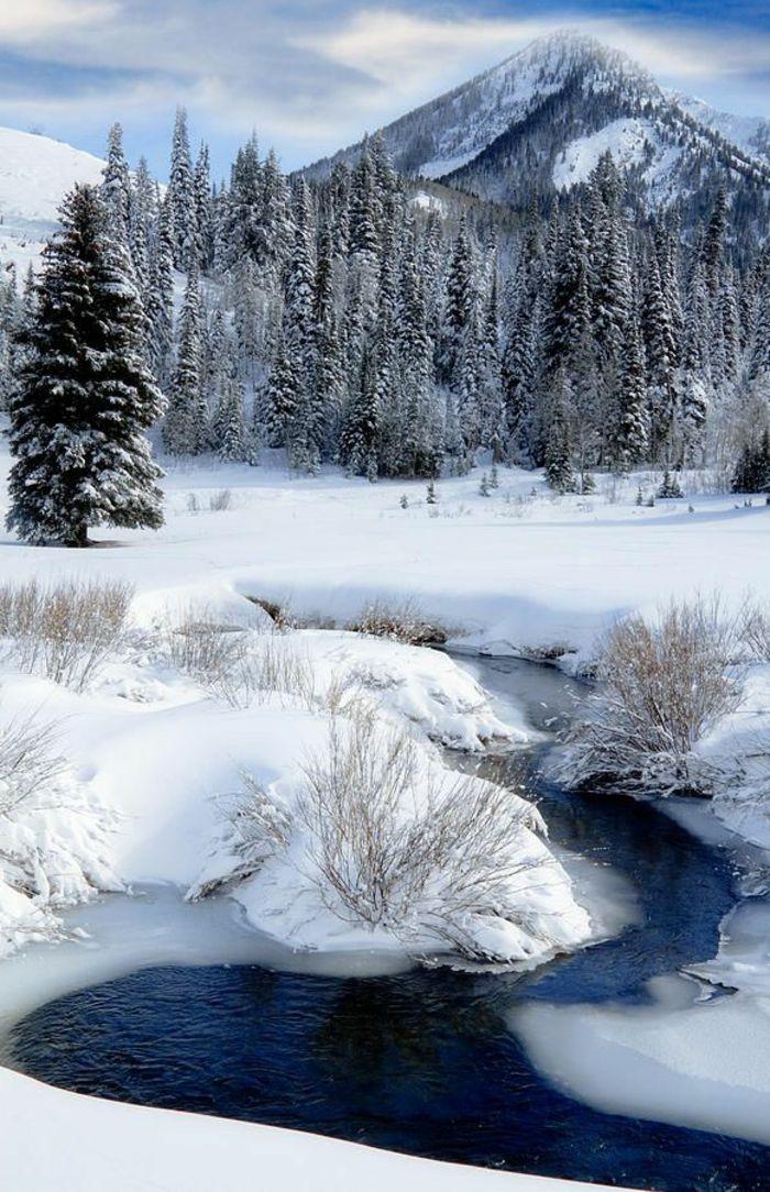 les 25 meilleures id es de la cat gorie paysage de neige sur pinterest images de paysages d. Black Bedroom Furniture Sets. Home Design Ideas