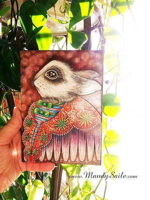 Mandy Saile - Creating Joyfully Whimsical Coloured Pencil Art Whiles Living With Happy House Rabbits: Fiarella/Flynn