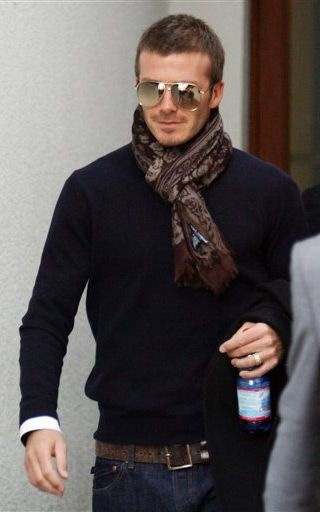 Guys, you can wear scarves, too. David Beckham does it. :) #photography #family #katewhitmoredotcom