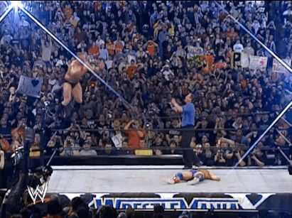 "The time Brock Lesnar failed to land a Shooting Star Press and gave himself a concussion. | 23 Wrestling Moments That Made You Go ""OMG! He's Dead!"""