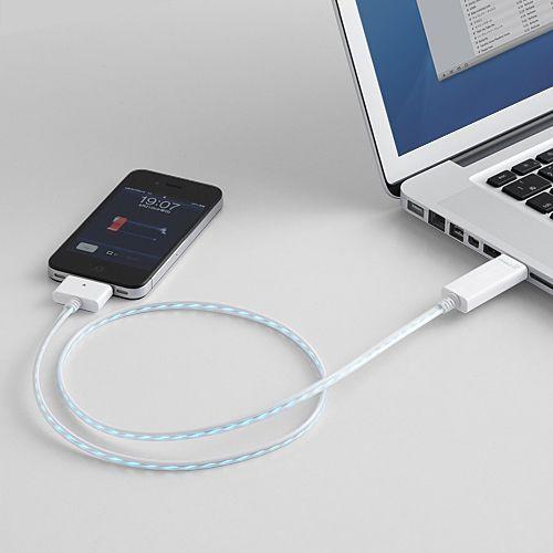光るiPhone・iPad USBケーブル DWA063