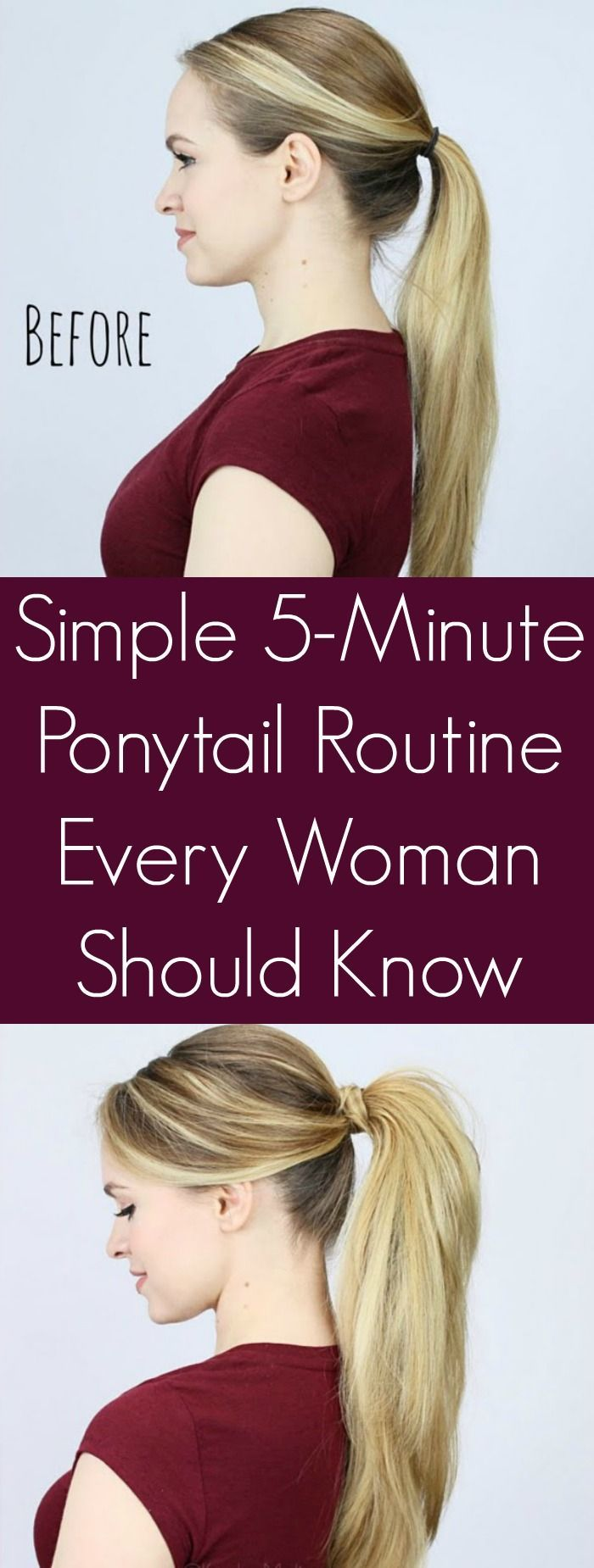 Simple 5-Minute Ponytail Routine Every Woman Should Know