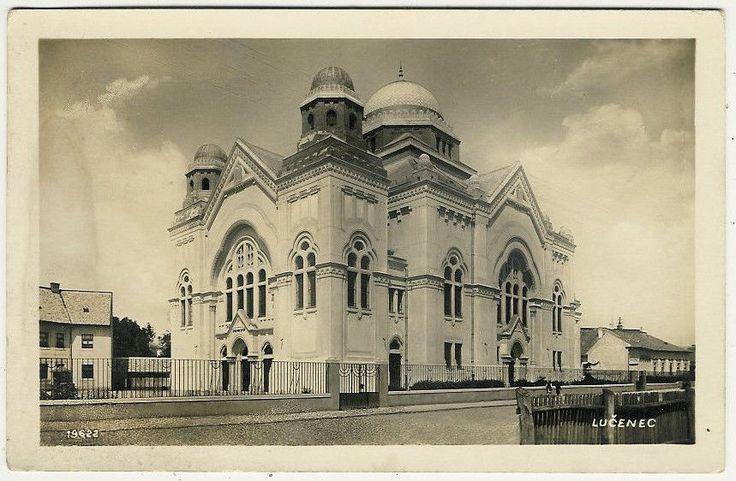 Judaica Judaism Slovakia Hungary Lucenec Losonc Synagogue Old Postcard | eBay