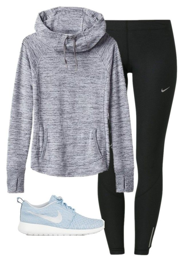 """""""IT'S SNOWING!!!!"""" by morganburleigh ❤ liked on Polyvore featuring NIKE, Athleta and plus size clothing"""