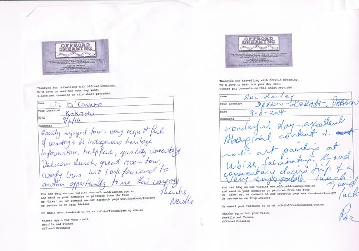 Feedback from Kakadu National Park Day Tour with Offroad Dreaming