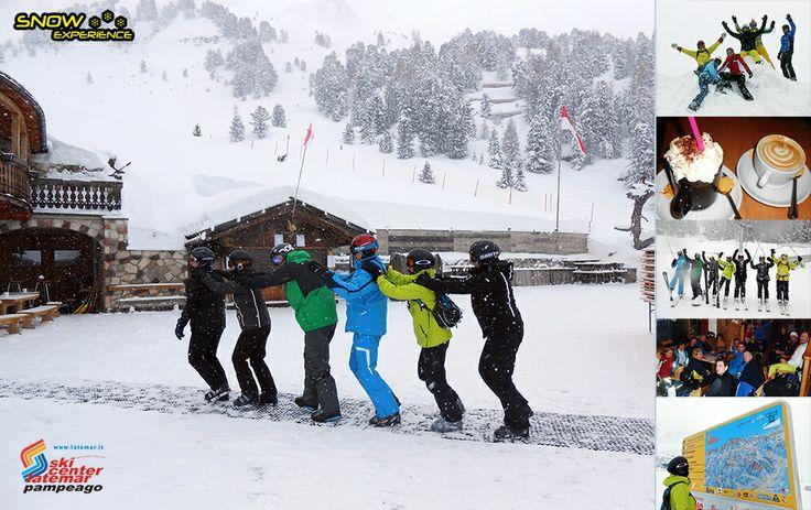 Skicenter Latemar - Prachtige tocht van Predazzo, Pampeago, Obereggen en terug naar Predazzo. Het mooie bergmassief van Latemar, goede pistes voor mooie bosrijke tochten.