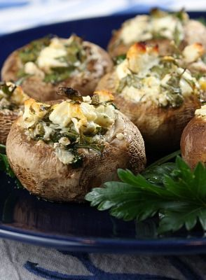 Easy, healthy recipe for Feta-Stuffed Mushrooms