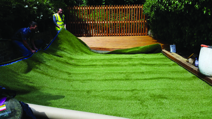 When you choose artificial grass for your living space, inside or out, you are choosing an ever more practical choice of flooring. Steve Graham installed his grass himself, having already taken on home improvement projects: 'My garden was dark and shaded, so we decided to raise the level. With a bit of work, we made terraces and a seating area, laying the grass on each of these different spaces.' http://www.artificial-grass.com/How-to-Install-Artificial-Grass.php