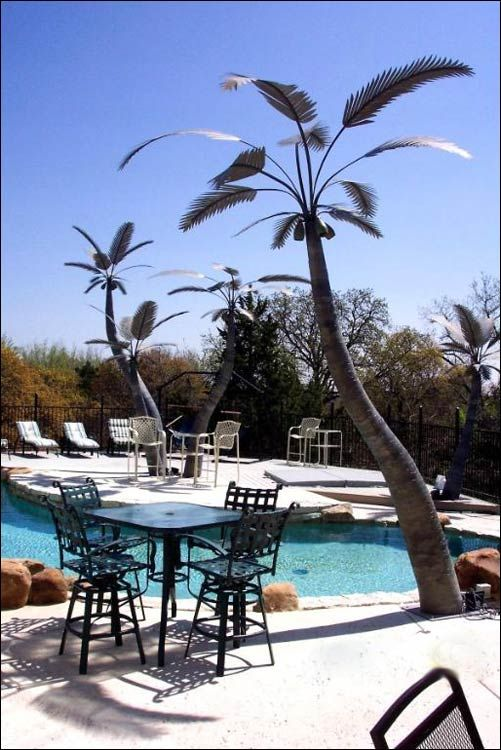 Metal Palm Tree Lights For My Dream Pool For My Dream Home Pinterest More Dream Pools