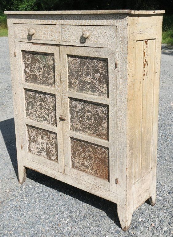 Antique Pie Safe Tin Panels Woodworking Projects Amp Plans