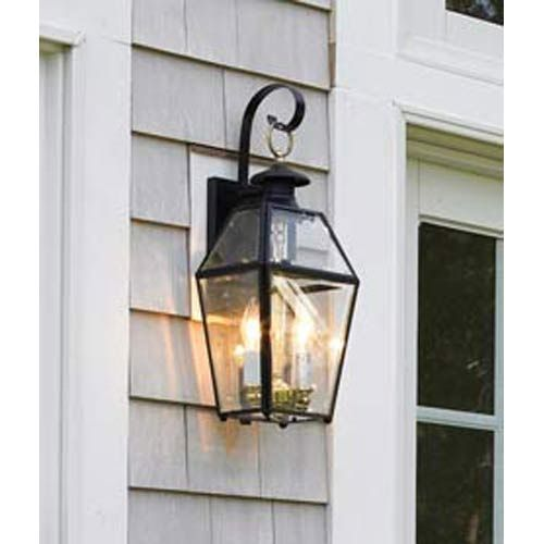 Norwell Old Colony Black Outdoor Wall Mount