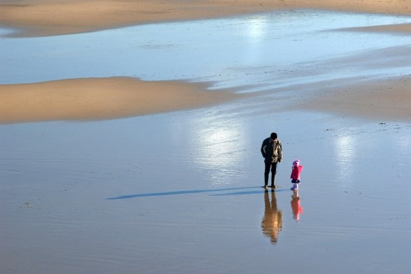 """""""Just the two of us"""", the beach at Saltburn, North Yorkshire    stocktoncameraclub.co.uk"""