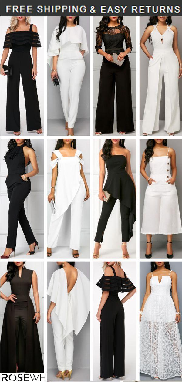 White Jumpsuit 038 Black Our