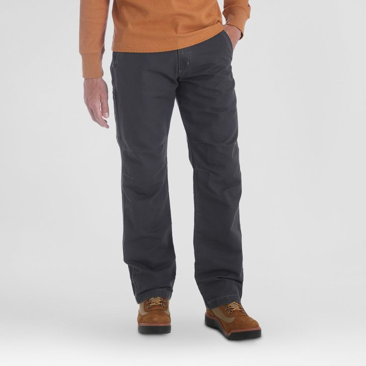 Wrangler Men's Outdoor Coated Cotton Utility Pants - Carbonite 34*29, Size: 34x29