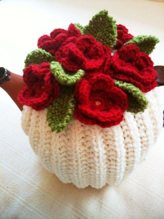 Tea for One  Blood Red Roses Flower Garden Tea by taffertydesigns, $16.00
