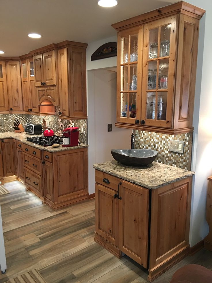Rustic Kitchen! New Showplace Cabinetry - Rustic Alder ...