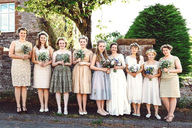 Hannah wore a Regency period inspired dress she made herself for her homemade village hall wedding. Photography by Ash James.