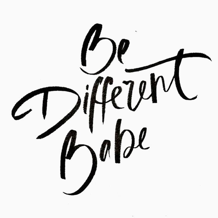 Seja diferente, baby! Faça a diferença hoje e sempre, o mundo está cheio de pessoas medianas#reginasalomao #inspiration #SS17