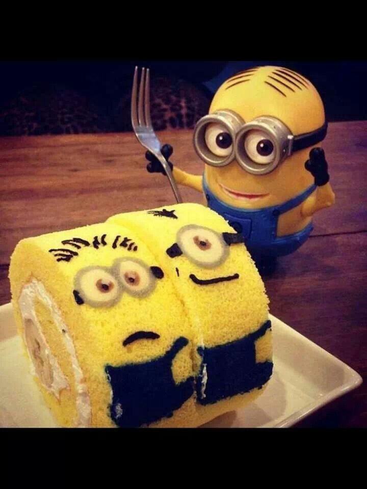 Minion Eating Minion Cake Despicable Me 2 Minions Doe