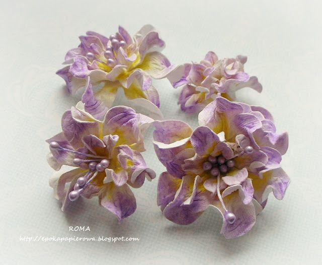 Paper Passion: Kurs obrazkowy na kwiatki w typie gardenii z papieru czerpanego