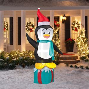 8 39 tall airblown penguin christmas inflatable christmas decorations pinterest walmart. Black Bedroom Furniture Sets. Home Design Ideas