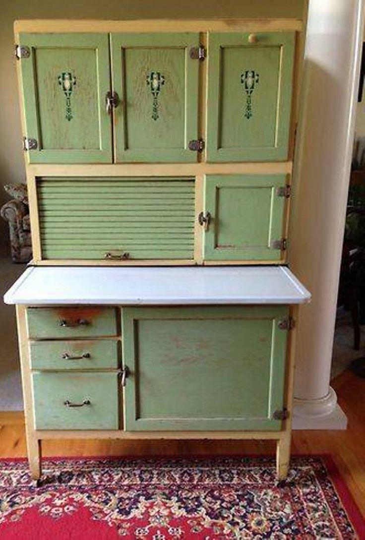 Furniture Hoosier Cabinet Furniture Vintage Green