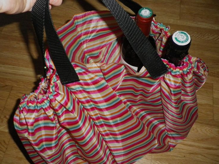 Neat bag made out of an old unbrella, wonder if I still have that broken thing I had to rig last time I used it....