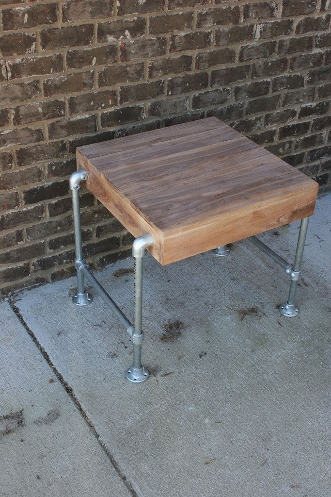 Custom Made Pipe Table (Walnut Top) - Made with Kee Klamp