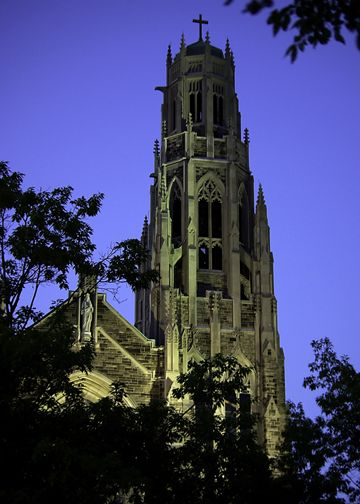 A night shoot of the Cathedral in Hamilton, Ontario