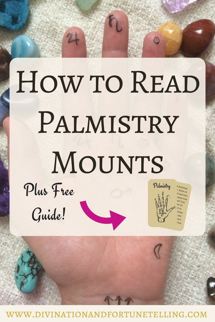 Post explains palmistry mount meanings, written by Gypsy fortune teller. This post and illustration teaches psychics how to read the future in the mount markings before you read the lines! – Divination and Fortune Telling
