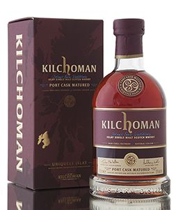 Kilchoman Port Cask Matured, the first of its kind released from the distillery. Fully matured in ex ruby port casks allowing for the full influence of the port casks to be imparted into the whisky. This port cask matured release has been bottled at 55% abv  http://www.abbeywhisky.com/kilchoman-port-cask-matured-islay-scotch-malt-whisky